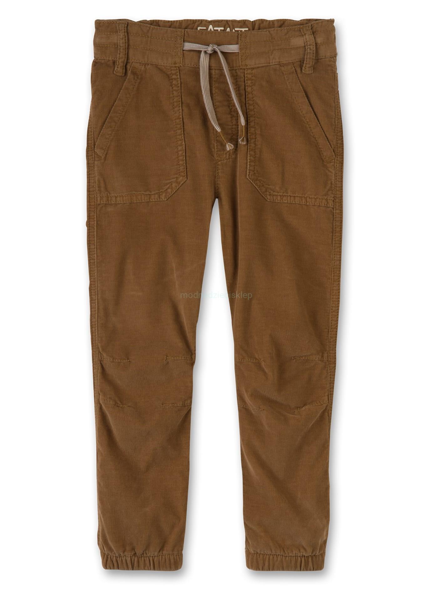 Bawełniana spodnie sztruksowe ocieplane
